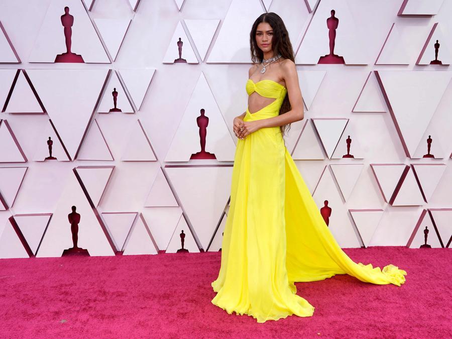 Zendaya ha indossato un abito Valentino Haute Couture. (Photo by Chris Pizzello / POOL / AFP)