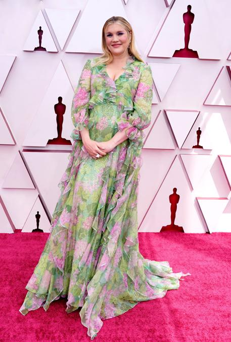 Emerald Fennell in Gucci. (Chris Pizzello/Pool via REUTERS)