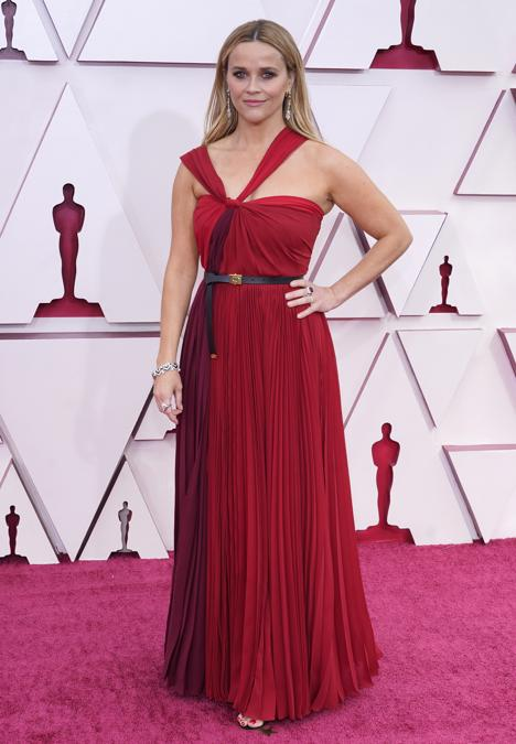 Reese Witherspoon in Dior. (AP Photo/Chris Pizzello)