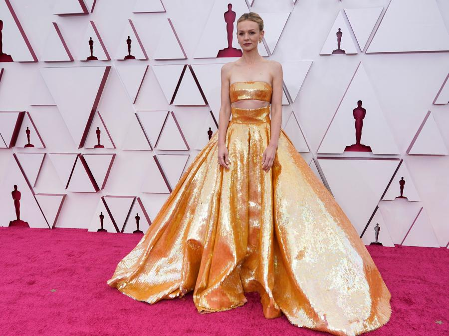 Carey Mulligan in Valentino Haute Couture. (Chris Pizzello/Pool via REUTERS)