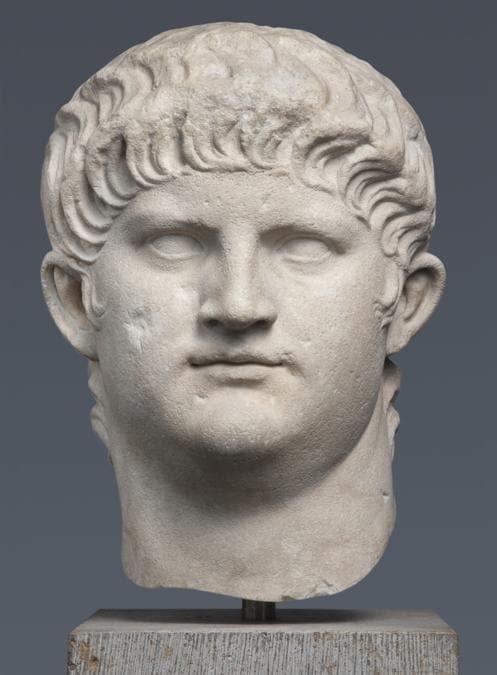 Ritratto di Nerone (tipo IV), 64–8 d.C., Roma, Italia. Marmo. Collezioni statali di antichità e gliptoteca di Monaco, fotografa Renate Kühling