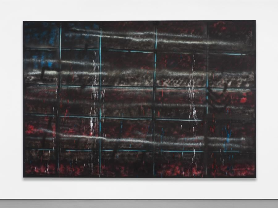 Sterling Ruby, SP151, signed with the artist's initials, titled and dated 'SR 10 'SP151'' on the reverse spray paint on canvas, 317.5 x 469.9 cm (125 x 185 in.). Painted in 2010. Estimate £250,000 - 350,000. SOLD FOR £390,600 (Courtesy: Phillips)