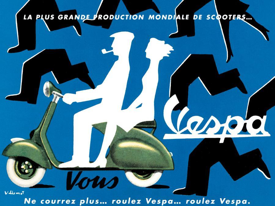 1954 Roulez Vespa