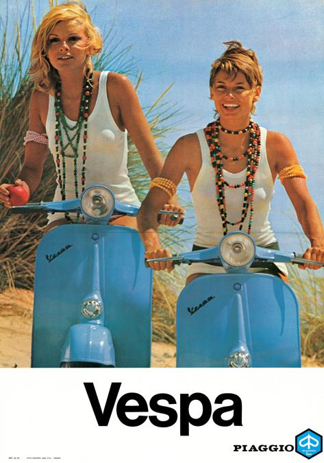 1970 Poster Vespa