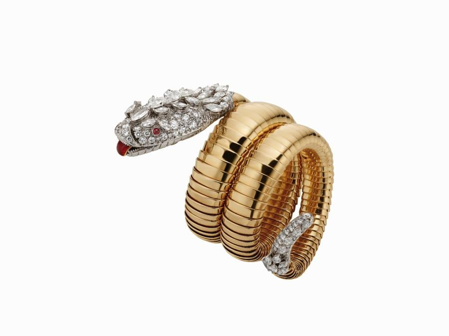 Bracciale orologio Serpenti Tubogas Bvlgari in oro platino con smalto rubini e dimanti 1958 Collezione Privata (2000x1500) (2)