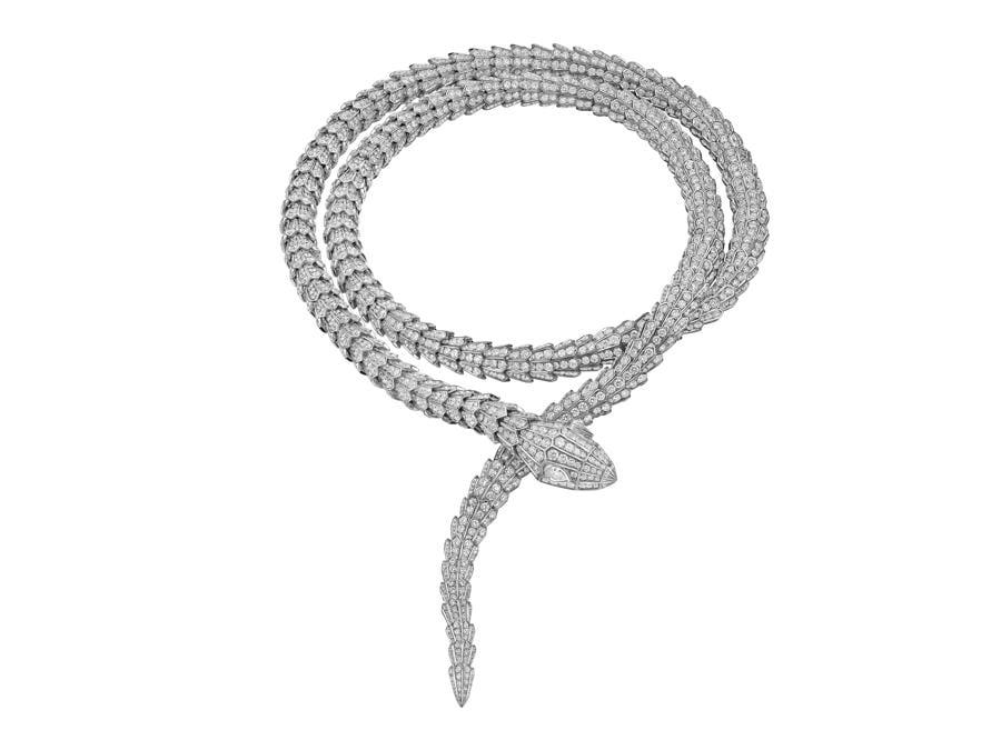 Collana High Jewellery Serpenti in oro bianco e diamanti