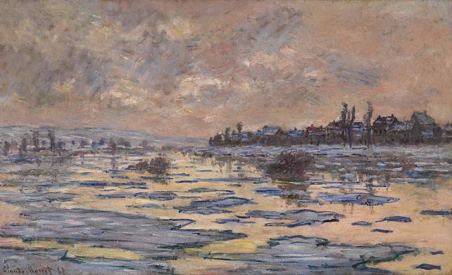 Claude Monet, La Seine à Lavacourt, Débâcle, stima 6-8 milioni di dollari, Courtesy Sotheby's