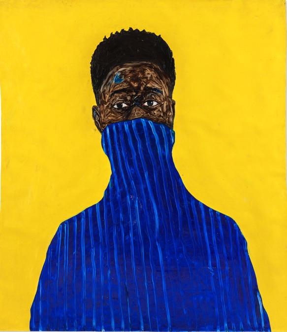Amoako Boafo, Blue Pullover, stima 200-300.000 dollari, Courtesy Christie's