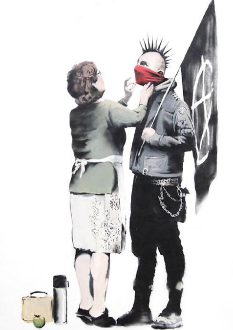 Banksy, don't forget your scarf