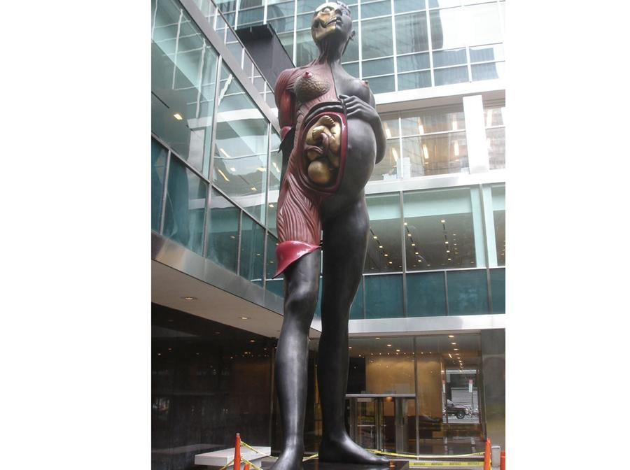 Damien Hirst, Virgin Mother. Located at the Lever House near MoMA