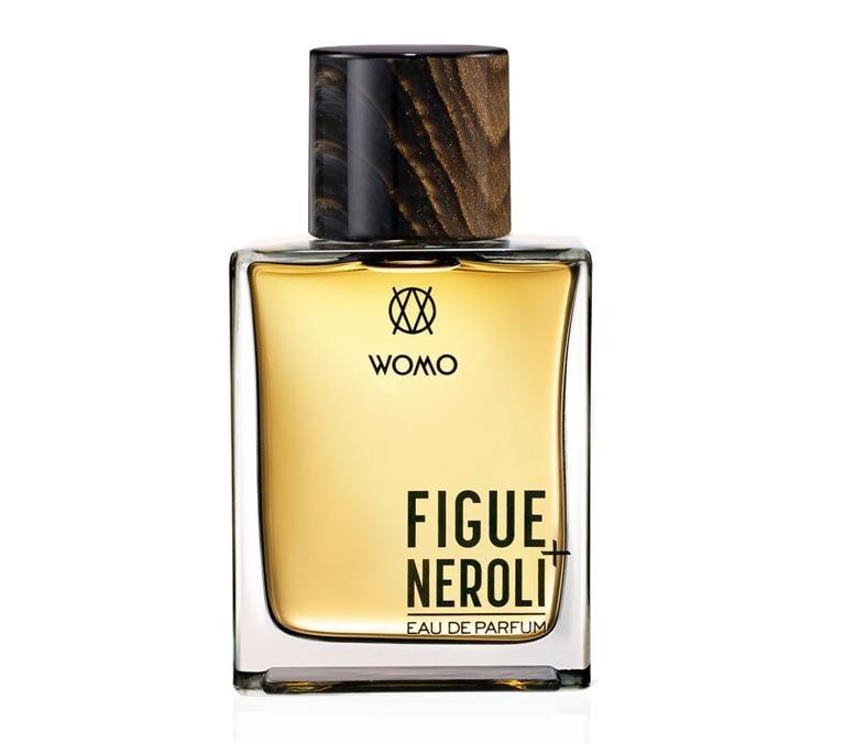 Figue +Neroli di Womo Ultimate Fragrances, una fragranza vibrante con note di bergamotto unite alla scorza di arancio amaro su un cuore croccante di foglia di fico illuminata dalla freschezza del Neroli.
