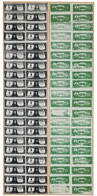 Andy Warhol, Front and Back Dollar Bills