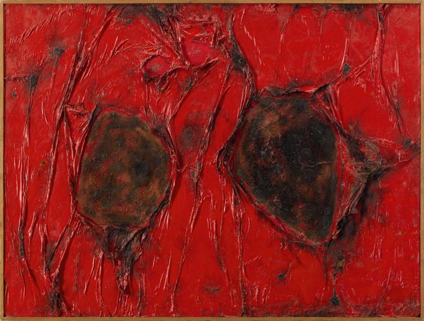Alberto Burri, Rosso plastica, est. £ 2,200,000 - 2,800,000
