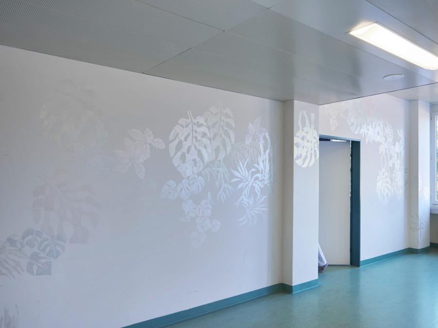 Rosmarie Vogt, Wandmalerei, 2009, Interferenzfarbe (Philipp Hänger, © KSA)