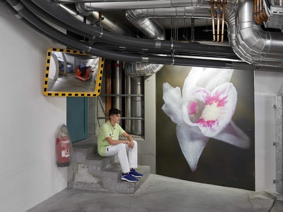 Jacqueline Schöb, Farbklänge, 2010, Gestaltung unterirdische Korridore (Philipp Hänger, © KSA)