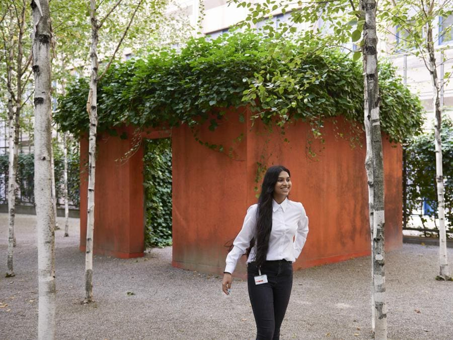 Gloria Friedmann, Waldlied, 1992, Pavillon und Birken (Philipp Hänger, © KSA)
