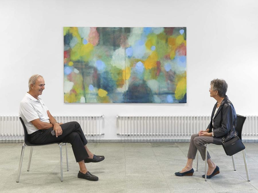 Andy Athanassoglou, Remains of remembered landscape – new painting, landscape 5, 2001, Oel auf Baumwolle (Philipp Hänger, © KSA)