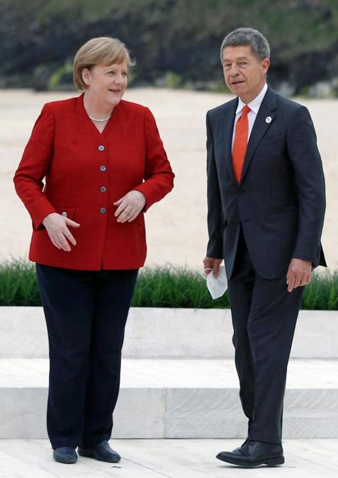 Angela Merkel con il marito Joachim Sauer