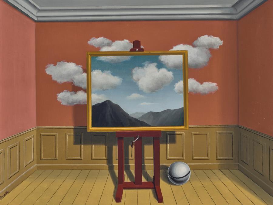 René Magritte (1898-1967). La vengeance, signé 'Magritte' (en bas à gauche); daté et inscrit 'LA VENGEANCE 1939' (au revers) huile sur toile 53.5 x 65 cm. Peint en 1936. Price realised : €14,552,500