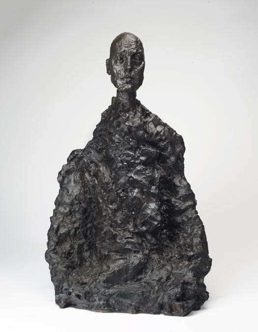 Alberto Giacometti. Lotar II. Signé et numéroté '7/8 Alberto Giacometti' (à l'arrière) ; avec le cachet du fondeur en relief 'SUSSE FONDEUR PARIS CIRE PERDUE' (à l'interieur). Bronze à patine brune, 57,8 x 37,8 x 24,1 cm. Conçu en 1964-65 ; cette épreuve fondue en 1973 dans une édition de 12 exemplaires. Price realised : €3,260,000