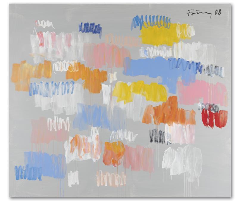 Günther Förg (1952-2013). Sans titre, signé et daté 'Förg 08' (en haut à droite) acrylique sur toile, 195 x 225 cm. Peint en 2008. Price realised : €980,000