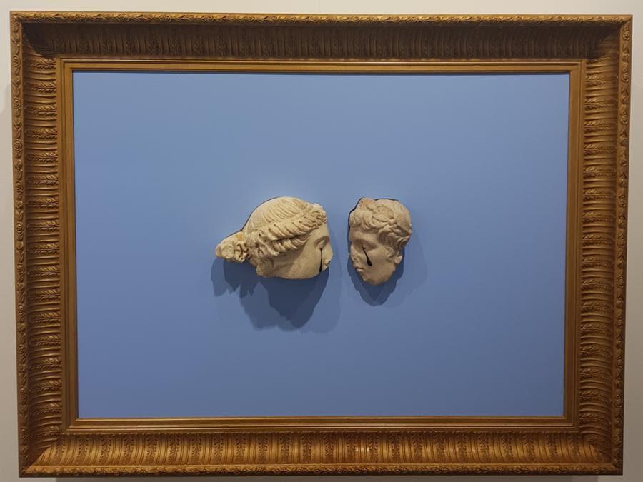 Francesco Vezzoli, The Eternal Tears, 2018, tecnica mista, 80x110x15 cm, in vendita a 120.000 dollari alla galleria Franco Noero