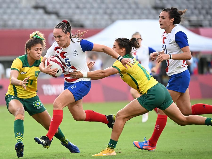 Rugby femminile -  Francia-Brasile (Photo by Greg Baker / AFP)
