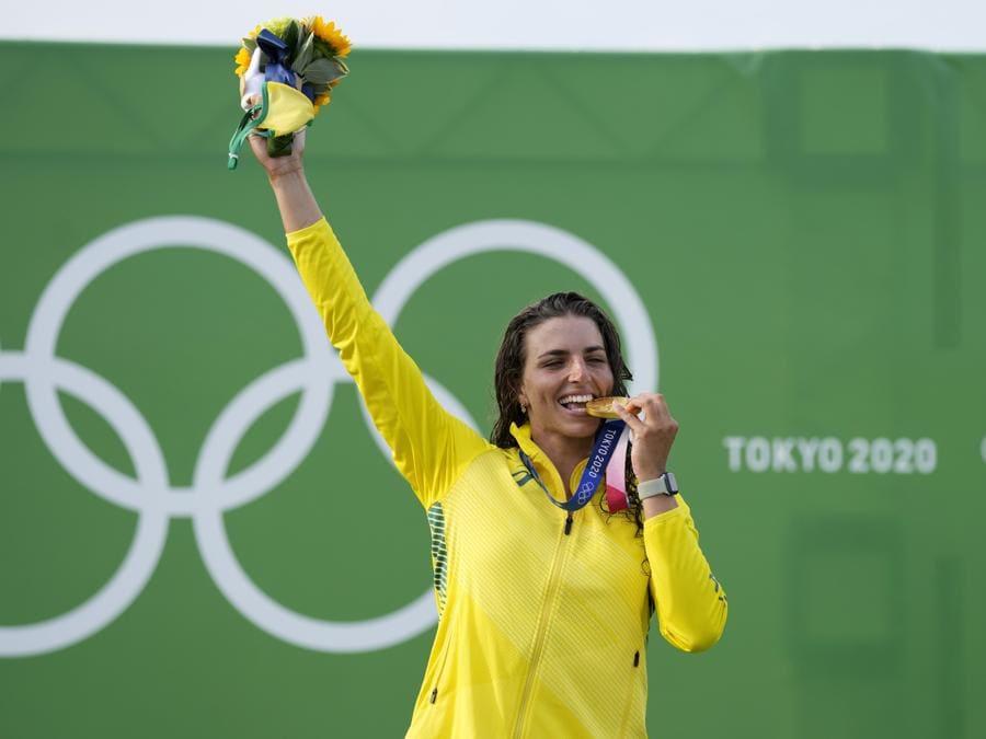 Canoa Slalom femminile - medaglia d'oro l'australiana Jessica Fox (AP Photo/Kirsty Wigglesworth)