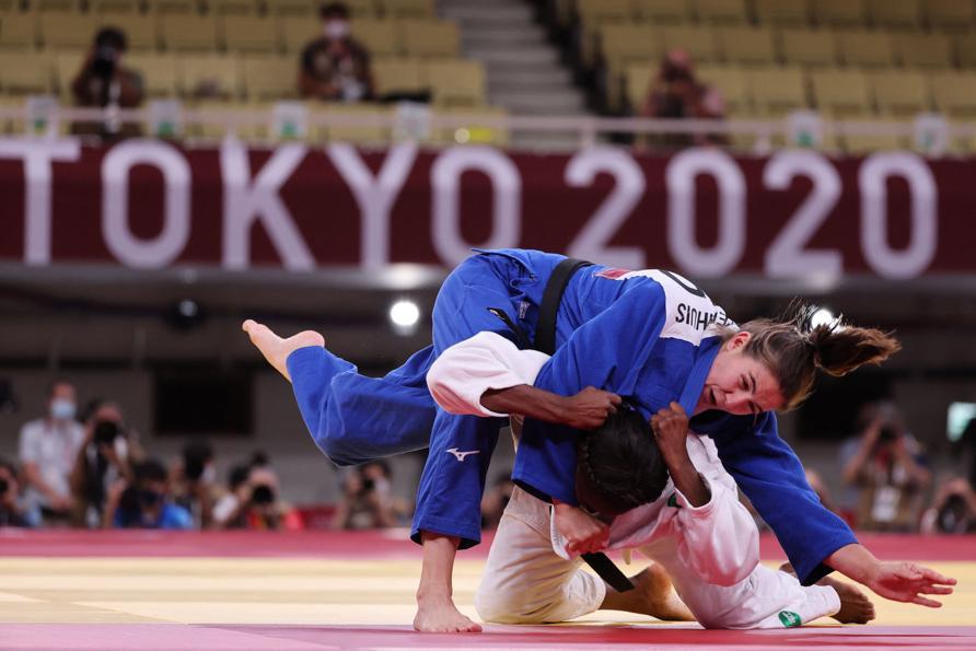 Judo femminile - Cuba- Olanda (Photo by Jack GUEZ / AFP)