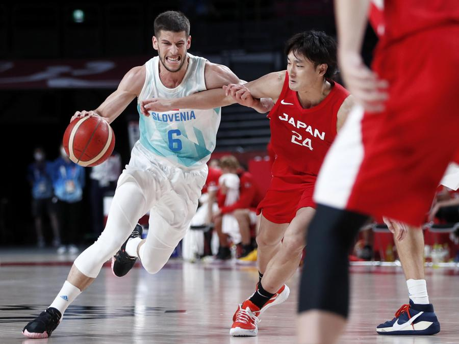 Basket  maschile -  Slovenia - Giappone (EPA/KIYOSHI OTA)