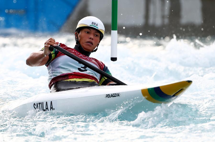 Canoa Slalom - femminile - Finale - la brasiliana Ana Satila (REUTERS/Stoyan Nenov)