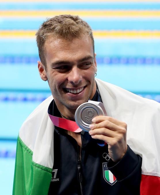 Nuoto 800 m stile libero - Nella foto Gregorio Paltrinieri medaglia d'argento (Foto IPP/PictureAllince)