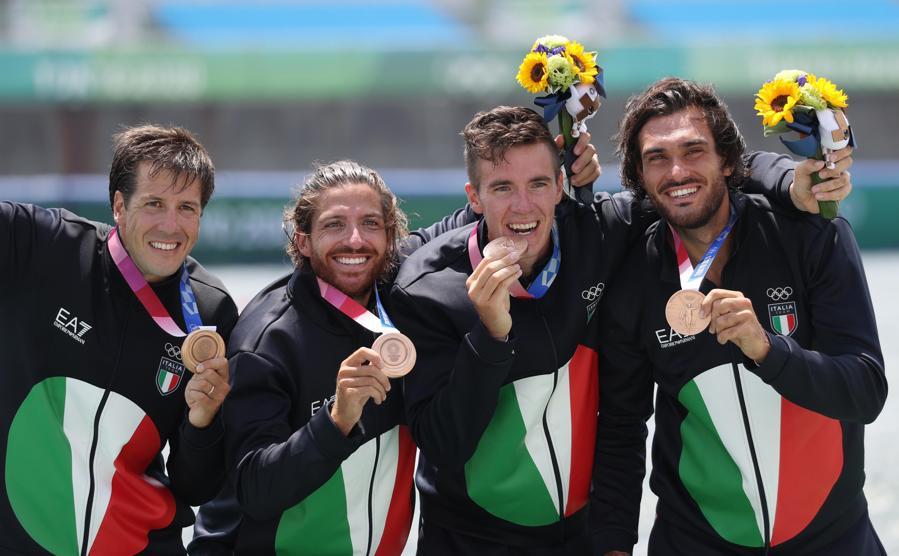 Bronzo: Matteo Castaldo, Marco Di Costanzo, Matteo lodo e Giuseppe Vicino (Canottaggio  4 senza) - Ipp