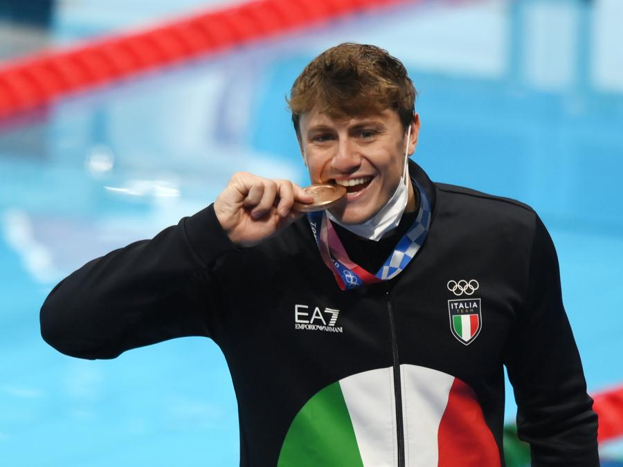 Bronzo: Nicolò Martinenghi  (Nuoto 100 rana) - Gian Mattia D'Alberto / LaPresse
