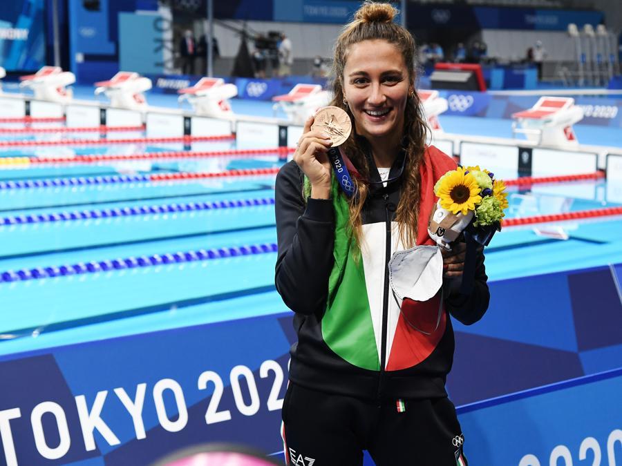 Bronzo: Simona Quadarella (Nuoto 800 sl) - Foto Gian Mattia D'Alberto / LaPresse