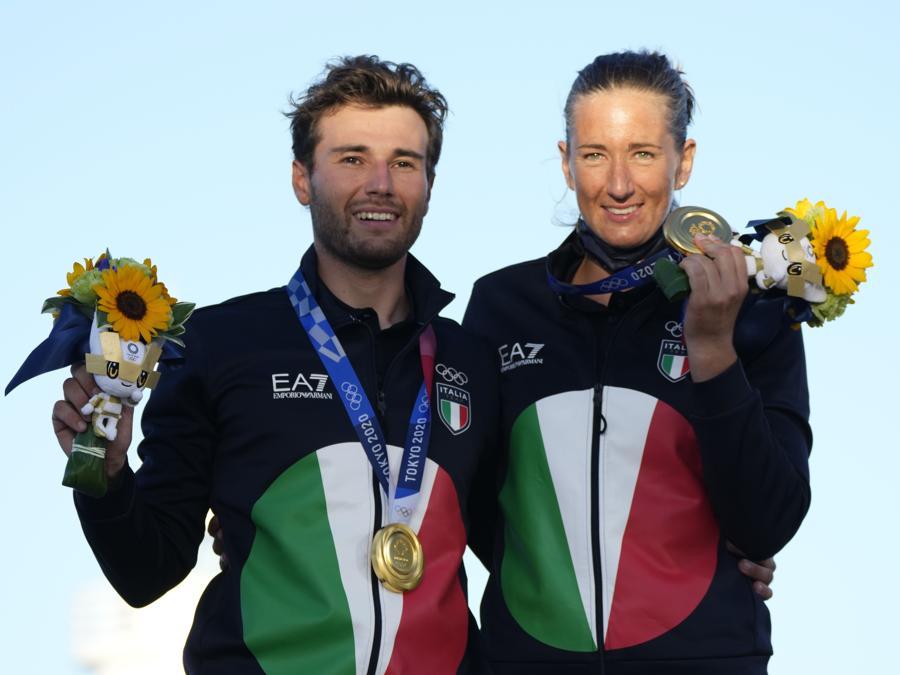 Oro:  Ruggero Tita e Caterina Banti (vela Nacra 17) -   AP Photo/Bernat Armangue