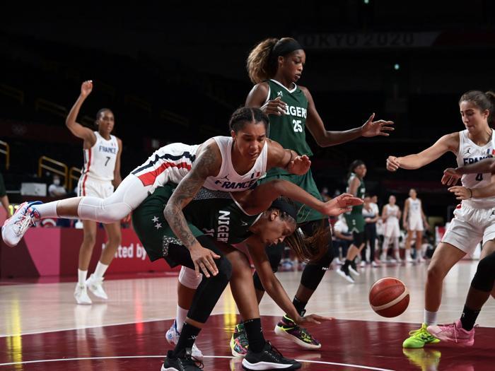 Basket Francia contro Nigeria(Photo by Aris MESSINIS / AFP)