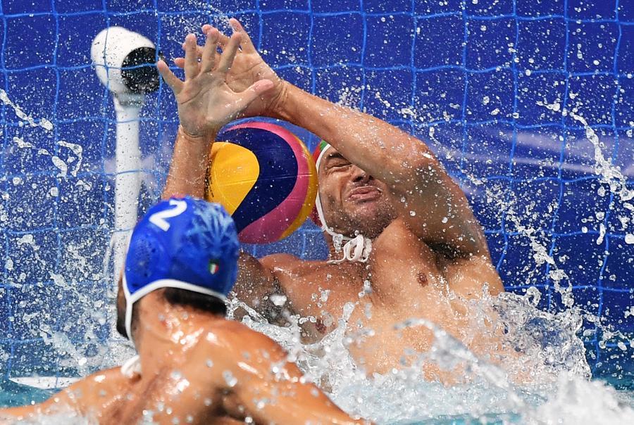 Pallanuoto maschile incontro  USA-Italia (Foto Gian Mattia D'Alberto / LaPresse)