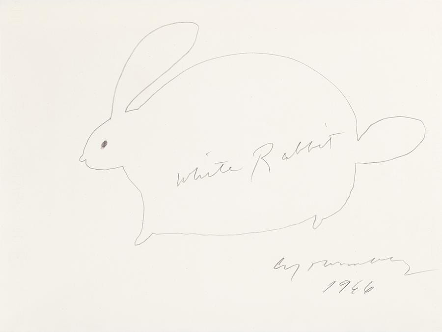 Cy Twombly  - White Rabbit, 1966 - est. €8.000-12.000 - Venduto a 37.800 euro