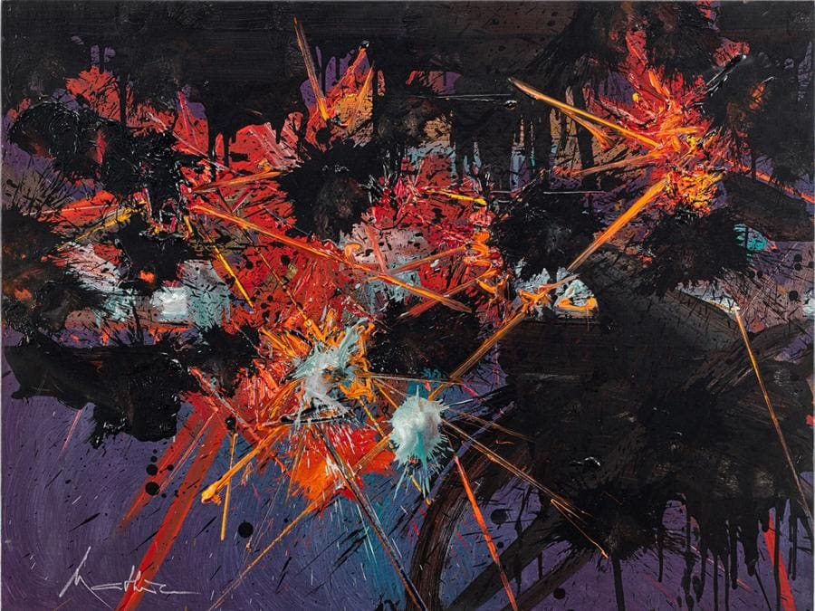 Georges Mathieu - L'espace éclaté, 1990 - est. €70-100.000 - Venduto a 252.000 euro