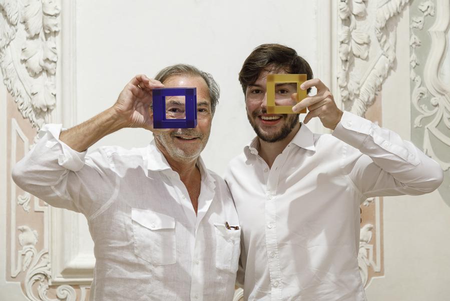 Didier Guillon e suo figlio Maxence che entro l'anno diventerà il Presidente della Fondation Valmont.