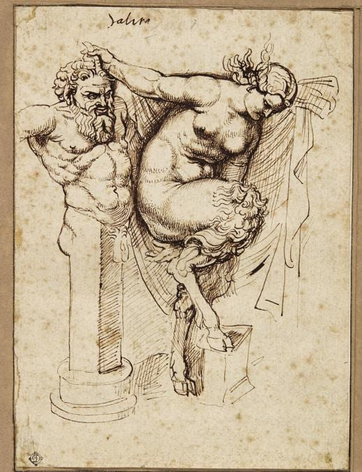 Sir Peter Paul Rubens, A Double-sided Page of Studies - Acquistato per 523.200 £, (stima tra 400,000 - 600,000 £)