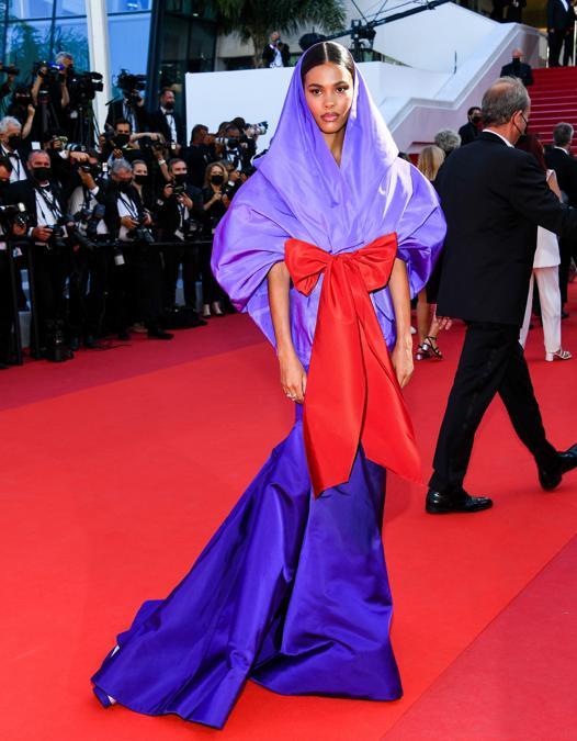 Tina Kunakey in Valentino Haute Couture