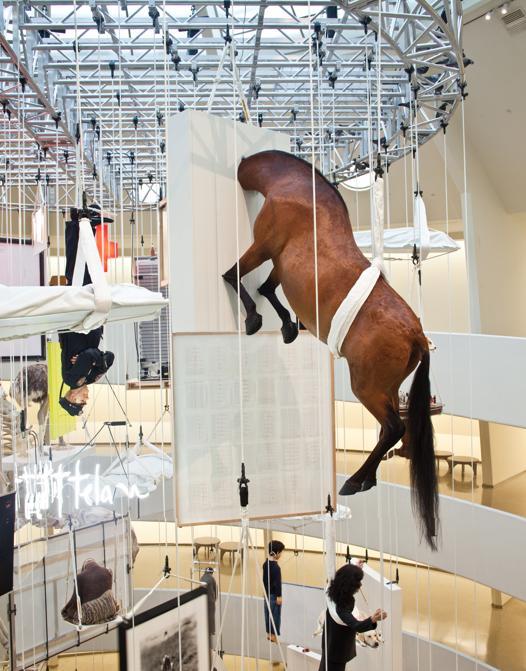 Maurizio Cattelan, All, veduta della mostra, The Solomon R. Guggenheim Museum, New York, 2011. Courtesy Archivio Maurizio Cattelan. Foto Zeno Zotti, The Solomon R. Guggenheim Foundation, New York.