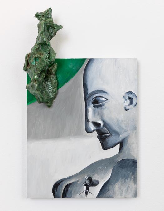 Enzo Cucchi - Lumaca...Sola, 2018 - Olio su pannello con inserto in ceramica - 35 x 20 x 10 cm - Courtesy of the artist; Balice Hertling, Paris; ZERO..., Milan.