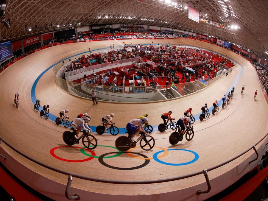 Ciclismo su pista uomini (Photo by Odd ANDERSEN / AFP)