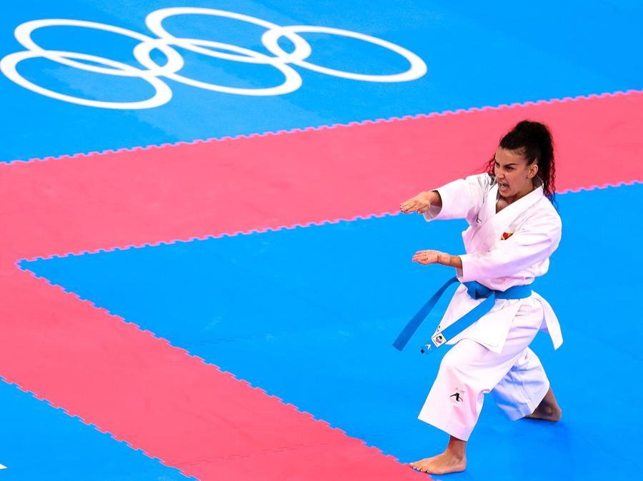 Karate femminile. L'italiana Viviana Bottaro (EPA/HEDAYATULLAH AMID)