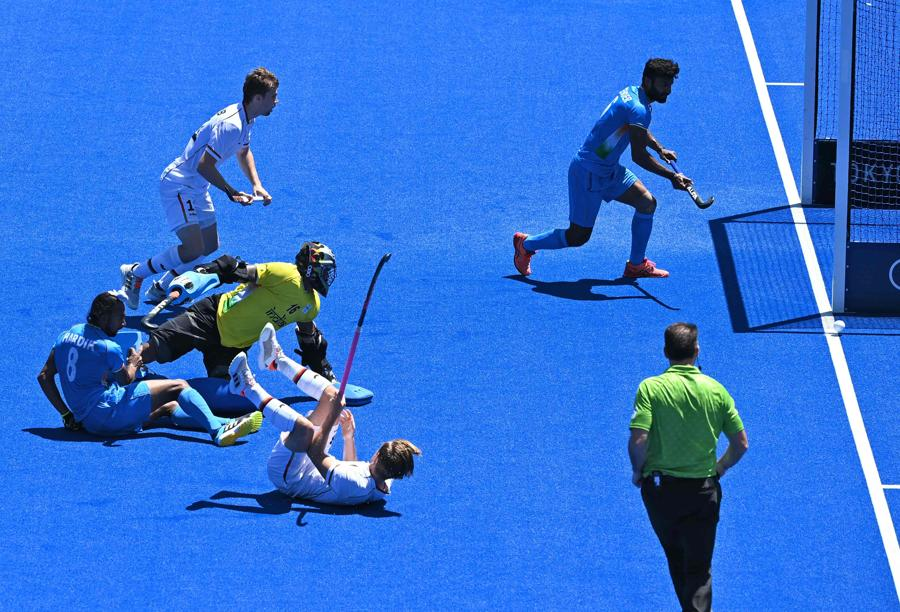 India Germania - Hockey su prato (Photo by Tauseef MUSTAFA / AFP)