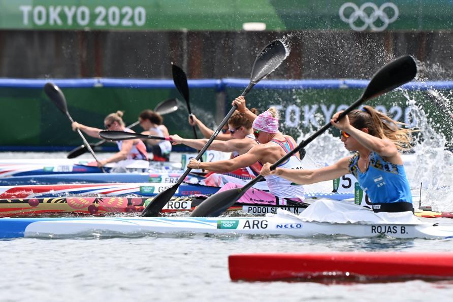 Kayak singolo femminile 200m - quarti di finale (Photo by Luis ACOSTA / AFP)