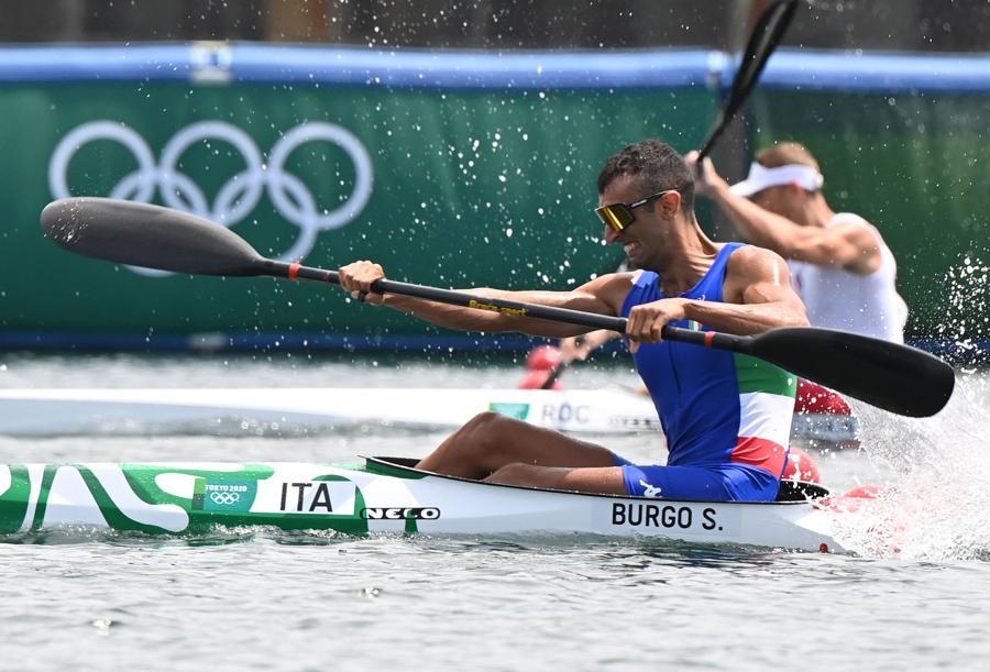Kayak 1000m maschile singolo - quarti di finale - L'italiano  Samuele Burgo  (Photo by Luis ACOSTA / AFP)